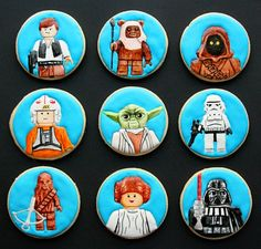 Lego Star Wars cookies by Arty McGoo. These are maybe my favorite cookies ever!