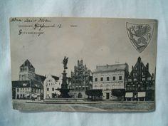"""AK von Greifswald - Motiv: """"Markt"""" - Gelaufen 1914 nach Montevideo/Uruguay.   eBay"""