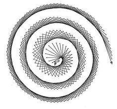 Nerinai.eu - nėriniai, mezginiai, nėrinių brėžiniai, pamokos bei patarimai - simegrafijos technikos pavyzdžiai String Art Tutorials, String Art Patterns, Pictures On String, Graph Paper Art, Drawing Prompt, Geometry Art, Paper Embroidery, Pin Art, Stripe Print