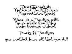 National Truck Driver Appreciation Week! #trucking #247delivers