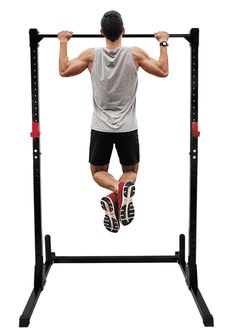 Adjustable Height Power Squat Rack Cage Stand System Strength Deadlift Power Lifting Weightlifting Rack W/Pull up Bar Exercise Stand Squat Rack Bench Curl Weight Stand Pull Up Bar Stand, Pull Up Rack, Best Pull Up Bar, Pull Bar, Push Up Bars, Handmade Leather Wallet, Yoga For Men, Bench Press, How To Run Faster