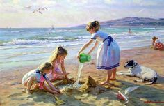 In the beach by Alexander Averin - #pintura #art #artwit #twitart #fineart #painting