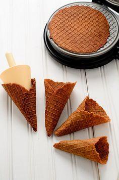 Chocolate Waffle Cone Recipe (Triple Scoop)