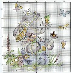 Схемы для вышивания «Зайка, кролик» | БЛОГ ДОМОХОЗЯЙКИ