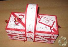 Die Bastel-Elfe, das Bastelportal mit Ideen und einem Bastelforum. - Nähkästchen Diy Box, Pen And Paper, Big Shot, Stamping Up, Origami, Decorative Boxes, Creations, Scrapbook, Home Decor