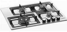 Płyta gazowa Kernau KGH 641 TCI X posiada żeliwne ruszty, palnik turbo, sterowanie z frontu, zabezpieczenie przeciwwypływowe gazu oraz automatyczną zapalarkę. Multimedia, Stove, Kitchen Appliances, Diy Kitchen Appliances, Home Appliances, Range, Kitchen Gadgets, Hearth Pad, Kitchen
