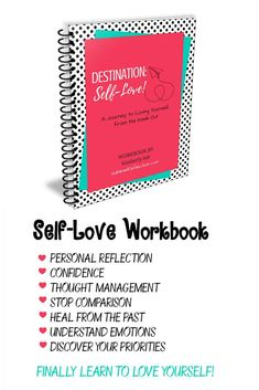Self-Love Workbook. Includes 60 worksheets for self discovery and personal growth to teach you about the love that ONLY YOU can give!