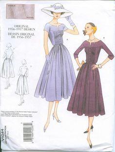 vintage vouge  1044 | 1957 Bonnie Hollen pattern