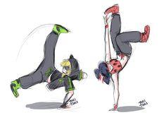 Break Dancing au - Miraculous Ladybug
