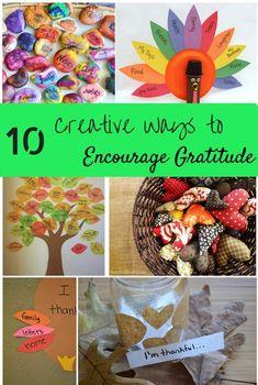 Creative ways to encourage gratitude - all year long!