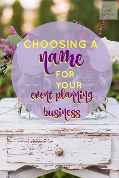 So you've decided to start your own #eventplanning business -- congratulations! Choosing a name is one of the most difficult parts of getting it off the ground, so we break down the do's and don'ts of choosing the perfect name in our blog post! #QCEventSchool #events #eventschool #wedding #weddingplanning #eventplanner #tips #career #business #learnonline #inspiration
