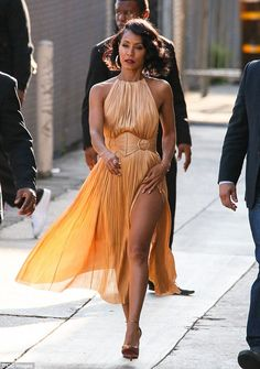 Be a golden goddess in Jada's Maria Lucia Hohan dress #DailyMail  Click 'Visit' to buy now