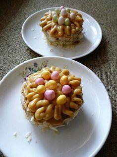 CC-cuisine: Moka nid de Pâques - French Easter egg nest pastries