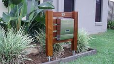 Merbau Timber and Stainless Steel Letterbox | eBay