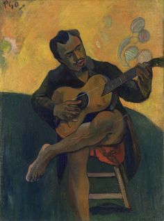 "Paul Gauguin, French, ""Le joueur de guitare"" (1894)"
