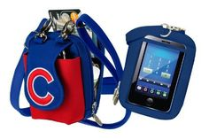 MLB Chicago Cubs Purse Plus Touch by Charm14. $19.99. Fits all phones in the front, even with bulky cases such as OtterBox. Long strap is adjustable up to 60 inches.. Slide your phone into the back clear window and operate the touch-screen right through the bag. The back opens up and becomes a purse - spots for your credit cards, money, lip gloss, etc.. Made in China. Show your support foryourfavorite teamwith this PursePlus Touch Cell Phone purse. All cell phones...