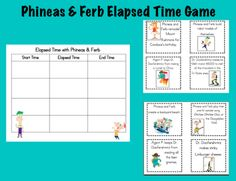 Practice elapsed time with Phineas & Ferb. How cool is that?!
