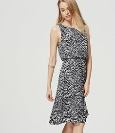 Ink Blot Blouson Dress