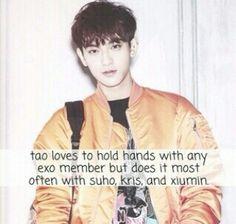 Cute Tao fact. Exo Tao Exo, Luhan, Exo Sign, Exo Facts, Exo Group, Pop Idol, Exo Members, Kpop Groups, Bts
