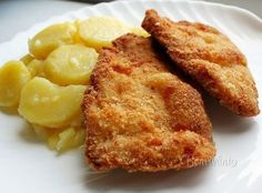 Slovak Schnitzels - Záhorácke šnicle (Slovak language) Slovak Recipes, Czech Recipes, Russian Recipes, Old Recipes, Ethnic Recipes, Food 52, Macaroni And Cheese, Main Dishes, Food And Drink