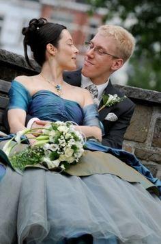 blue wedding dress — Weddings