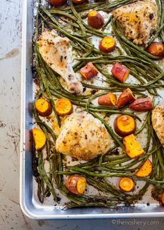 The Weeknight Dinner Cookbook: Sheet Pan Chicken with Green Beans and Potatoes – The Noshery