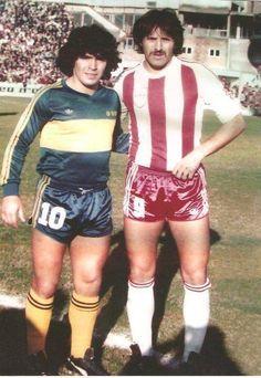 Maradona con Leopoldo Jacinto Luque.