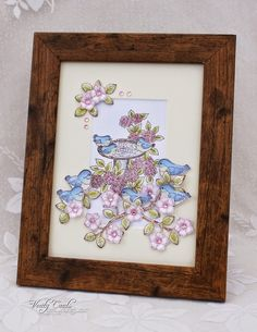 Picture using the Birds and Blooms Collection from Heartfelt Creations. Made by Liz Walker