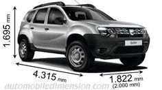 Dacia Duster dimensions