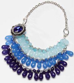 Tori Spelling Blue Glitz Necklace