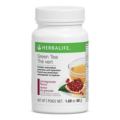 Green Tea provides hydration throughout the day and contains antioxidants that help provide protection against free radical damage. With only 25 mg of caffeine per serving, this refreshing tea is lower in caffeine than an 8 fl. oz. cup of coffee. Choose from Original and Pomegranate flavour.