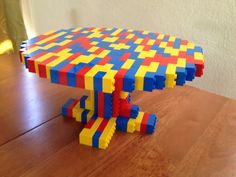 BRICK STAR: LEGO Cake Plate (looks fun! but how are the vertical bricks attached to the round part? Thx for sharing from Mrs. A at http://123kindergarten.com)