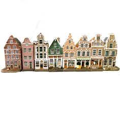 Vintage Miniature Houses, Dutch Doll Houses, Amsterdam Canal Street Art Souvenier Set of Eight on Etsy, $86.05 AUD