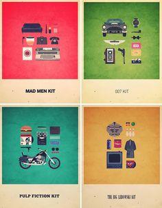 los kits The Big Lebowski, Minimalist Poster, Love Design, Pulp Fiction, Mad Men, Creative Design, Geek Stuff, Films, Movies