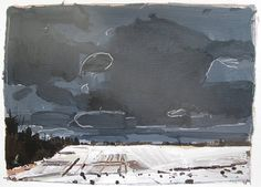 Ice Field March 25 Original Acrylic Landscape Painting by Paintbox