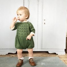 Knitted Rompers One - Piece Clothes Jumpsuits Children 's Clothes Baby Boys And Girls Fashion Sweet Pink Green Knitted Sweaters 1028 Jumpsuits Online with $11.61/Piece on Mobileitem's Store | DHgate.com