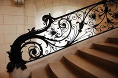Elaborate, grand and ornate; staircase at the Petit Palais
