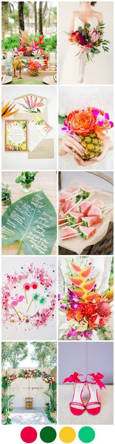 If you're looking for something really different for your wedding theme, you may just have found it! The tropical theme is massive for weddings this year and we can definitely see some 2017 brides getting in on the action next summer!