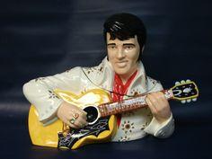 ♥ Elvis and His Guitar Cookie Jar