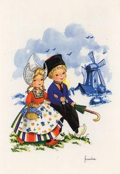 Alte Ansichtskarte 70er Jahre niederländische von CuteEyeCatchers