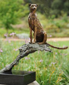 Bronze Sculpture - Cheetah. www.sarahrichards.co.za #africanart #bronzeafrica
