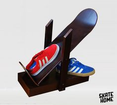 Skateboard Shoes shelf and magazine rack, book shelf. The perfect gift for skateboarders for