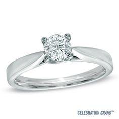 Celebration Grand® 1/2 CT. Diamond Solitaire Engagement Ring in 14K White Gold (I-J/I1)