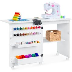 Walmart is currently offering this Best Choice Products Folding Sewing Table Multipurpose Craft Station & Side Desk for only $109.99 (reg. $199.99). You save 45% off the retail price for this sewing & craft station. Plus, this item ships free. Deal may expire soon. Sewing Station, Craft Station, Shelf Bins, Shelves, Folding Sewing Table, Sewing Desk, Sewing Tables, Sewing Spaces, My Sewing Room