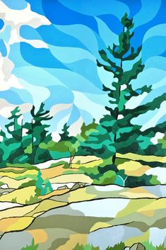 "Original landscape artwork by Canadian artist Jonathan Munz - AKA ""Munzy"" Affordable local art shipped directly to your door. Artist Paint, Canadian Art, Landscape Artwork, Canvas Art For Sale, Cottage Art, Art, Canvas Art, Art Wallpaper, Landscape Art"