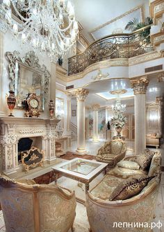 Interior Planning Tips Tricks And Techniques For Any Home. Interior design is a topic that lots of people find hard to comprehend. However, it's actually quite easy to learn the basics of effective room design. Palace Interior, Mansion Interior, Luxury Homes Interior, Luxury Home Decor, Home Interior Design, Royal Room, Luxury Homes Dream Houses, Elegant Homes, Dream Rooms