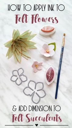 Add interest and dimension to your felt florals by using ink!