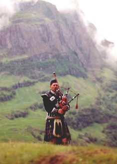 A piper & his pipes, scotland