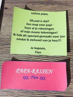 Papa-rassen mapje voor Vaderdag | vaderdag kado knutselen | Creatief cadeau vader?