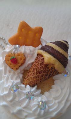 Kawaii+keychancell+phone+charm+small+round+cake+so+cute+by+josmoon,+$8.00